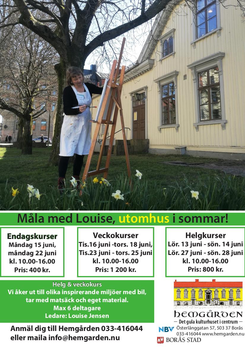 Målarkurs sommar Hemgården Borås och Louise Jensen