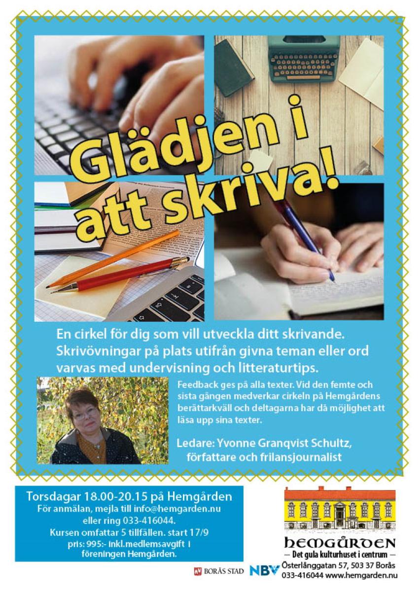 Skrivarkurs krönika Hemgården Borås med Borås Tidning
