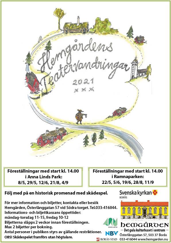 Borås 400 år, teatervandringar i Hemgårdens regi